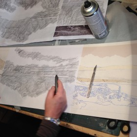 Making a collagraph plate