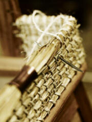 The Orkney Furniture Maker - Straw weaving, detail