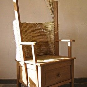 Scapa Crafts - Oak Orkney Chair in progress