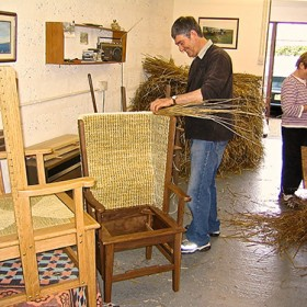 Scapa Crafts - Orkney Chair in progress